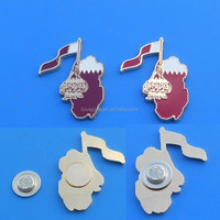 Qatar national emblem magnetic pin