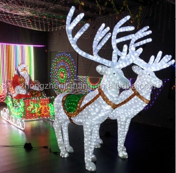 white acrylic lighted outdoor christmas sleigh buy. Black Bedroom Furniture Sets. Home Design Ideas