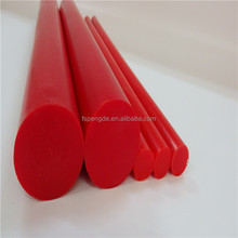 red rubber polyurethane pu rod