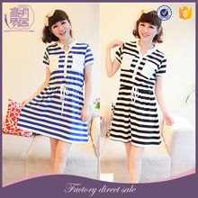 Wholesale Maternity Clothes Striped Draped T-shirt Nursing Petticoat