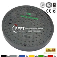 BEST SMC Composite D400 manhole cover with logo plate