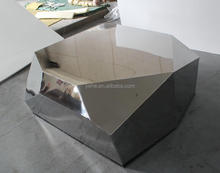 Irregular shape coffee table,shiny stainless steel coffee table T-03