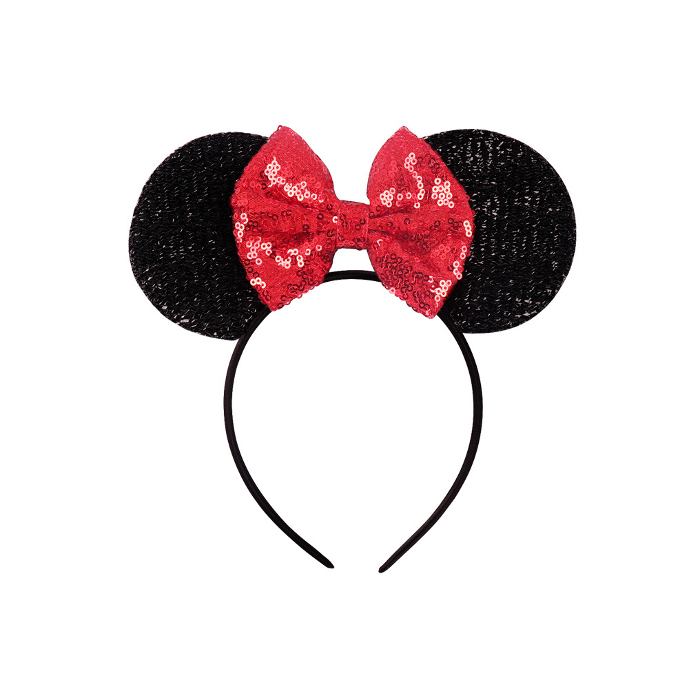 Hot Selling Big Sequin Bowknot Head Hoop <strong>Hair</strong> Hoop For Girls <strong>Hair</strong> <strong>Accessories</strong>