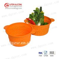 Japen market 2011 hot sell vegetable safe silicone steamer with lid