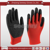 Seeway Working Gloves Latex Coated Nylon Knitted Finger Gloves