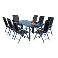 Outdoor Aluminum Sectional Dinning Table Set