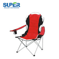 Dounle layer 600 D Polyester PVC coated outdoor folding beach chair with armrest