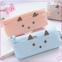 Hot new products for 2017 germany stationery /animal shape fabric pouch/small moq wholesale pencil pouch
