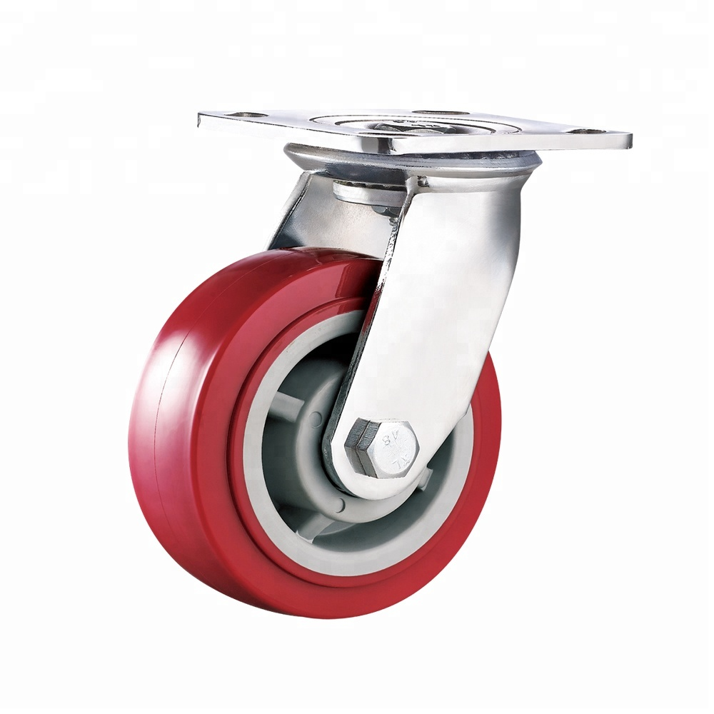 Industrial Hot Sale Swivel Heavy Duty PU Caster <strong>Wheels</strong>