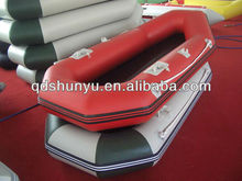 (CE) pvc material 2.6m 3 passengers inflatable light weight fishing boat