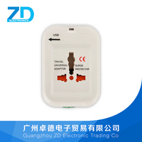 Best Design HOT Selling International travel adaptor with usb