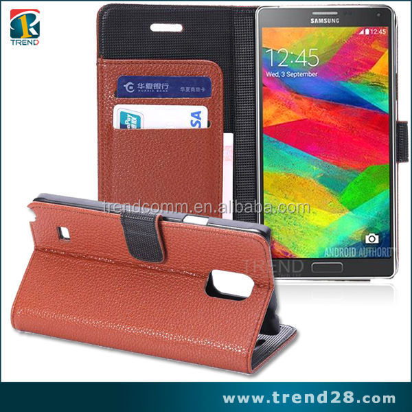 PUleather wallet case for Galaxy Note 4 ,for Samsung Galaxy Note 4 leather case