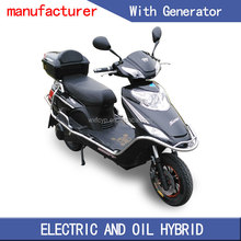 double seat mobility 2 wheel 49cc gas scooter with eletric