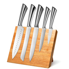 Professional 6 Pieces Stainless Steel Kitchen Knife Set with Magnetic Block