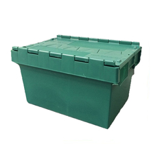 Wholesale plastic moving container Attached Lid industrial moving totes