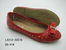 2015 ITALIAN DESIGN LADIES FLAT FASHION SHOES FOOTWEAR WITH LASER CUTTING