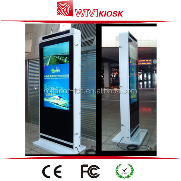 85inch outdoor usb free standing lcd advertising display