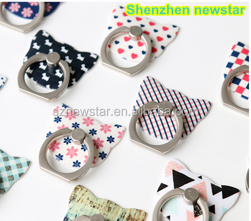 Universal Phone Grip Style Ring Holder Ring Grip with retail package from shenzhen newstar