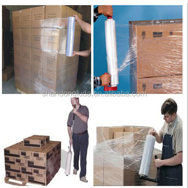 Super Power Machine Type Stretch Film 23 Mic (350% Pre-stretching) lldpe plastic film