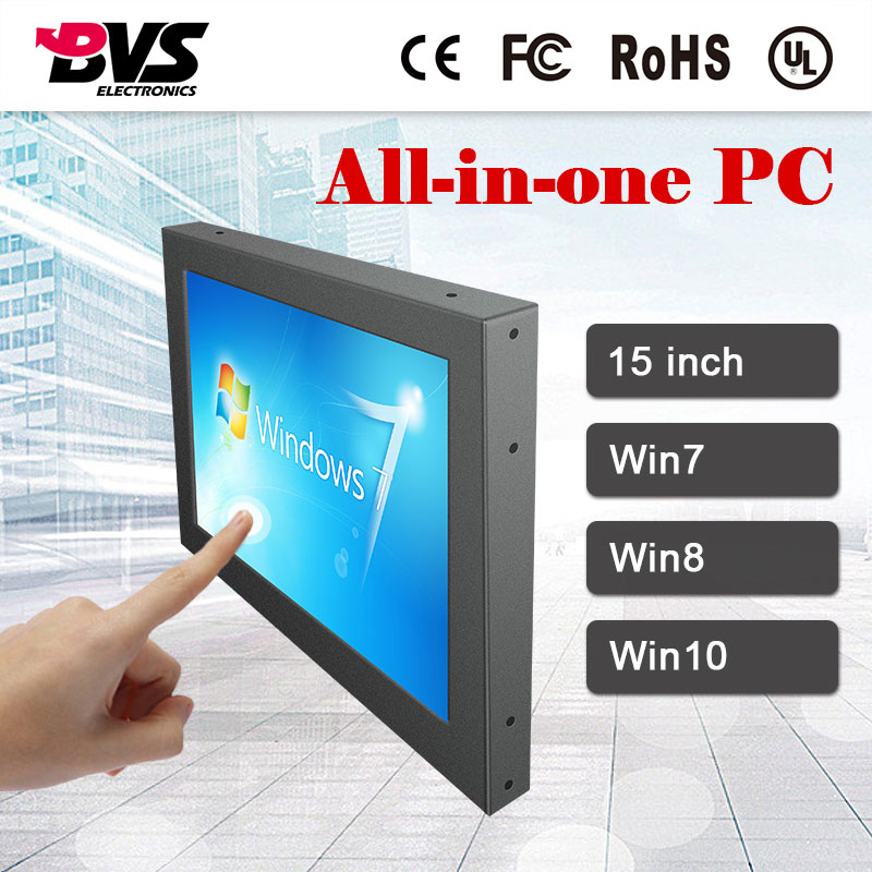 "China lowest price 15"" touch screen win 10 all in one home server mini pc"