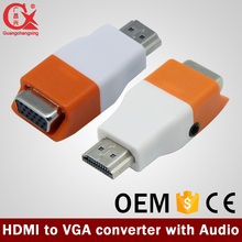 Gold-Plated Active HD 1080P HDMI to VGA Converter Adapter Dongle with 3.5mm Audio