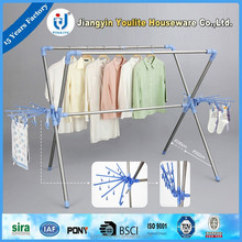 manual large plastic folding clothes drying rack