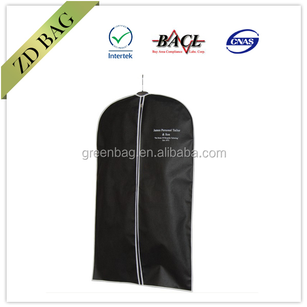 cheap printed garment suit bag/nonwoven suit cover