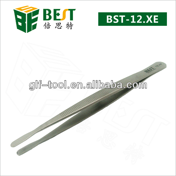 Competitive Price Assist Factory Round Tip Laboratory Tweezers For Electronic