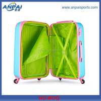 2014 OEM 3D modern ABS/PC luggage trolley suitcase, super light and strong travel house luggage