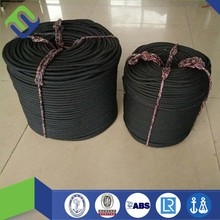 Black Braided 16 Strand Polyester Rope 8mm hot sale