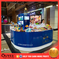 ouyee255 display showcase ice cream kiosk gelato equipment