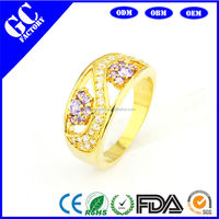 2014 new fund sell like hot cakes amethyst gold-plated engagement ring Ms. Favorite ring