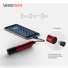 Metal power bank 2600mah,mobile power supply,portable usb battery LED flashlight torch key chain power bank