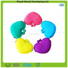 Funny Heart Shaped Mini Silicone Rubber Coin Bag Purse