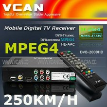 Truman satellite receivers DVB-T2009HD-36 portable dvb-t tv receiver box with USB upgrade,2 Tuner,250KM/H speed for car
