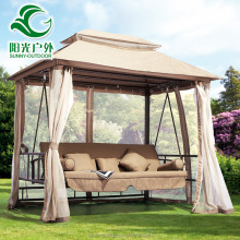 Factory Price Outdoor Gazebo Rocking Chair Swing Bed with Mosquito Netting