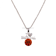 china websites that accept paypal enamel crystal basketball necklace