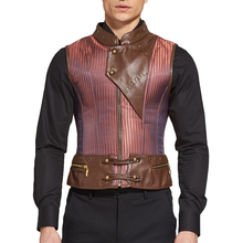 Wholesale Shaper Mens Gothic Zipper Brown Steel Boned Corset