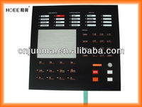 Carbon pill silicone rubber membrane keypad circuit