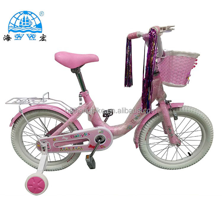 High end steel material baby boy kid bike racing bicycle bike bmx with basket rear box
