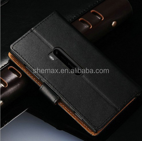 for Lumia 920 Case,2014 New Luxury Book Style Wallet genuine leather Case For Nokia Lumia 920 With Card Holder