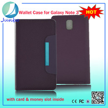 Hot selling wallet flip retro book leather case for samsung galaxy note 3