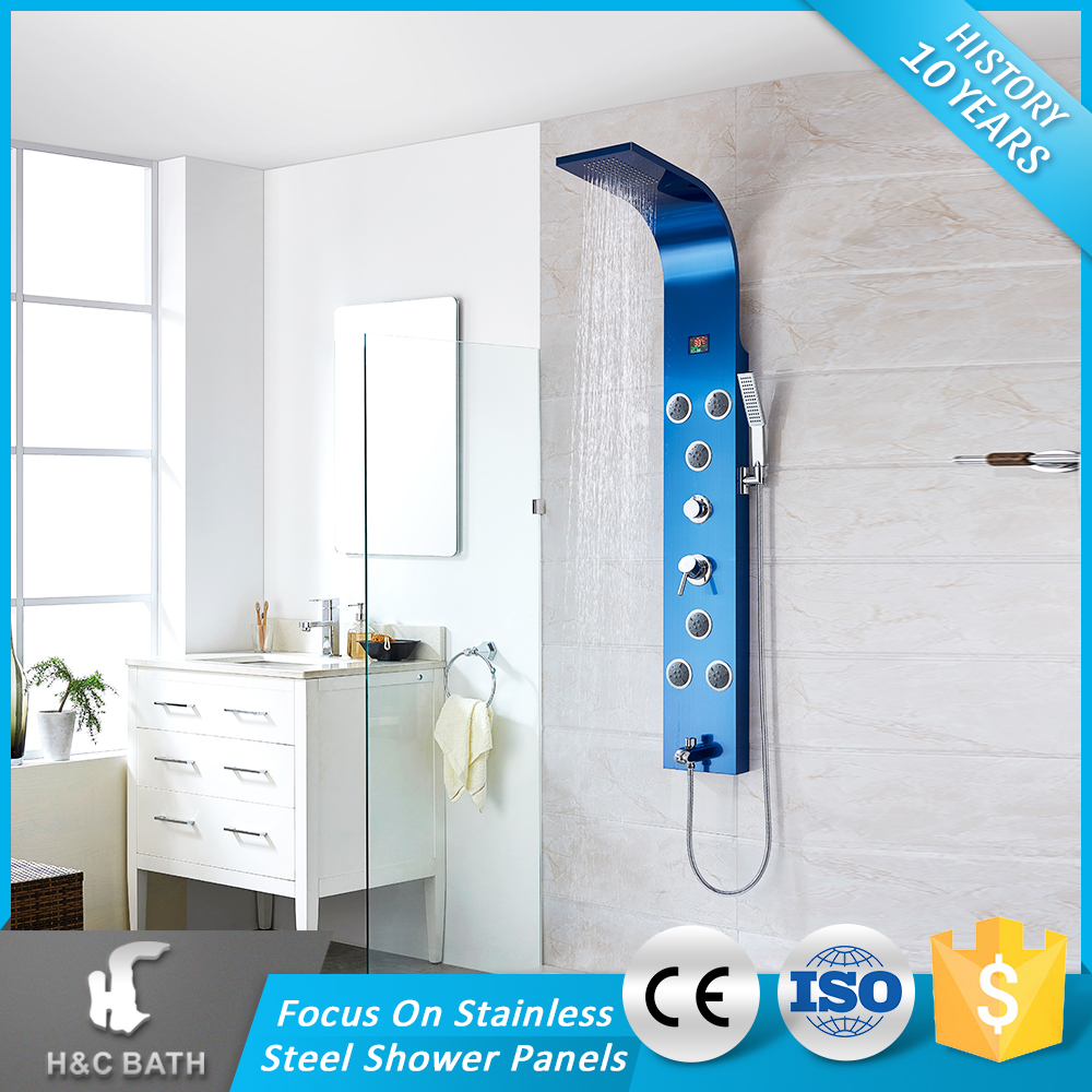 Shower Massage Panel System with Rain Shower Head plus Hand Shower & Tub