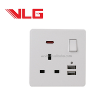 one gang usb switch 13a bs socket