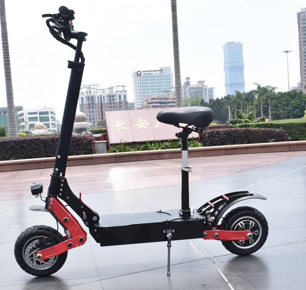 China cheap High powerful two motor e scooters 60v2400W electric scooter with seat <strong>for</strong> adults