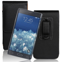 2015 Shemax Gun holstel leather case for Samsung Galaxy Note Edge