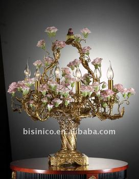 European table lamp,classical flower table lamp,made of copper,MOQ:1PC(B50286)