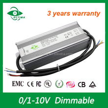 0-10v dimmabe constant current power supply ip67 100-265Vac 140v dc output led driver