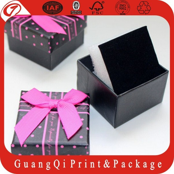 custom all kinds of lid and base jewelry box with foam insert