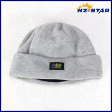 HZM-13232009 New 2015 polar thimsulate with logo patterns for kids polar black fleece custom children fashion baby girl hats